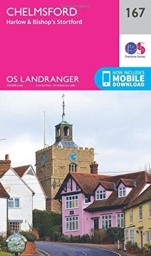 OS Landranger - 167 - Chelmsford, Harlow & Bishop's Stortford