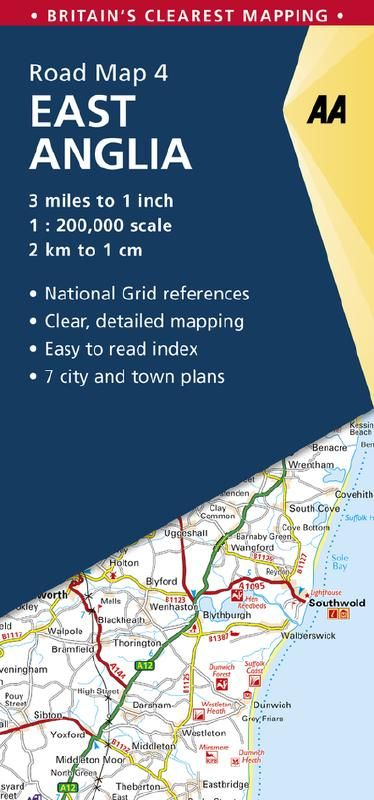 AA Road Map 4 - East Anglia