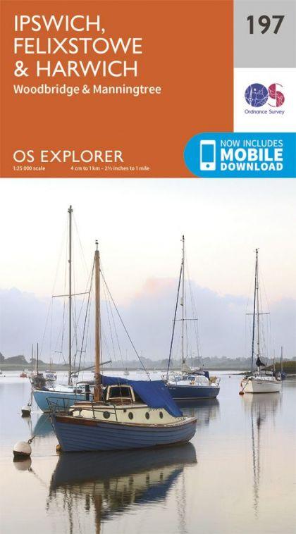 OS Explorer - 197 - Ipswich, Felixstowe & Harwich