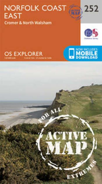 OS Explorer Active - 252 - Norfolk Coast East