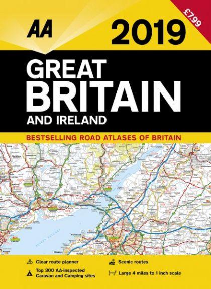 AA Road Atlas Great Britain and Ireland 2019