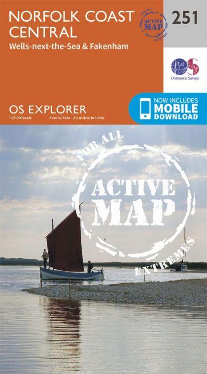 OS Explorer Active - 251 - Norfolk Coast Central