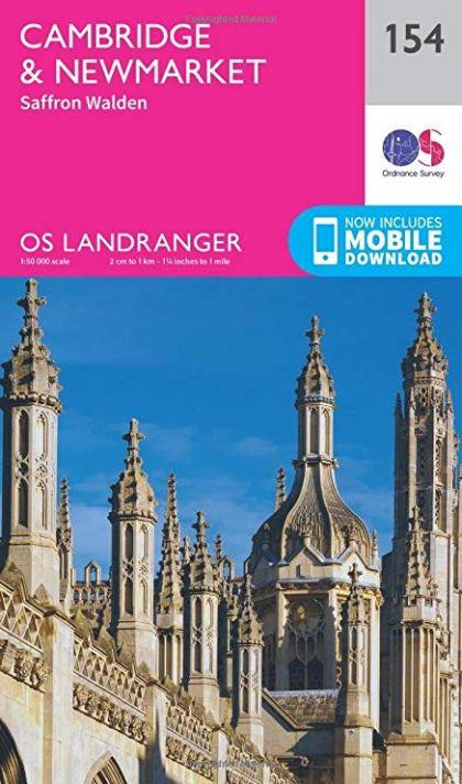 OS Landranger - 154 - Cambridge & Newmarket