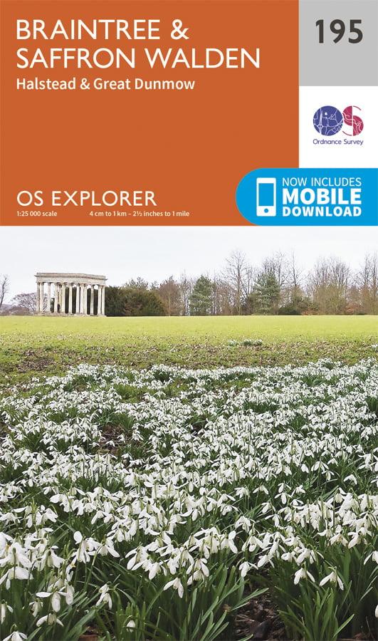 OS Explorer 195 - Braintree & Saffron Walden