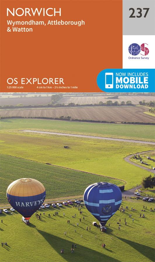 OS Explorer 237 Norwich