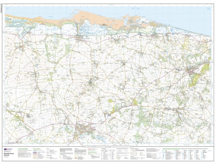 OS Explorer Map 251 - Norfolk Coast Central