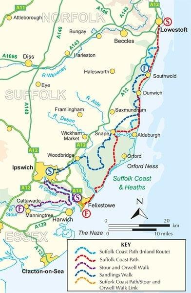 Suffolk Coast and Heaths Walks