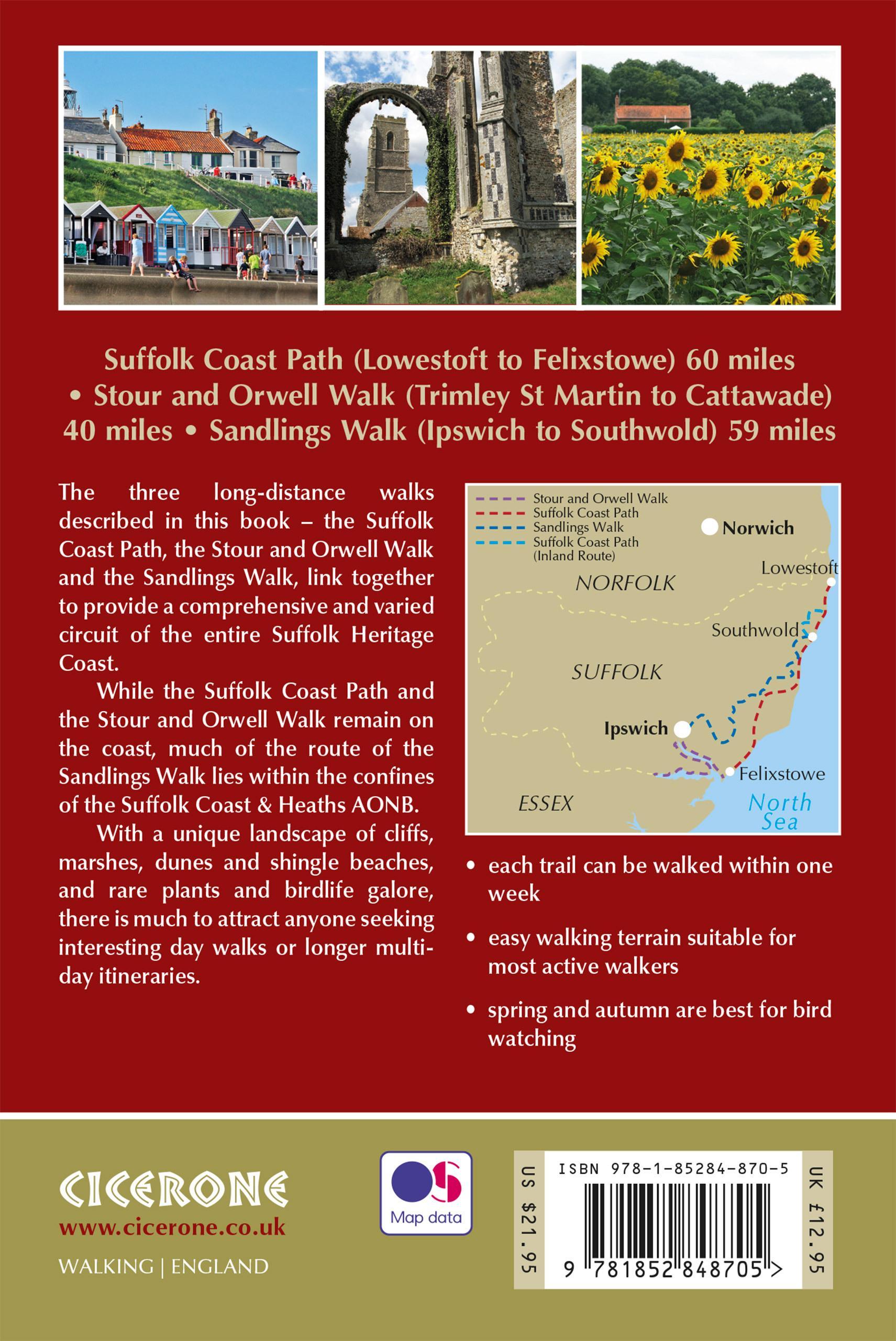 Suffolk Coast and Heaths Walk back cover