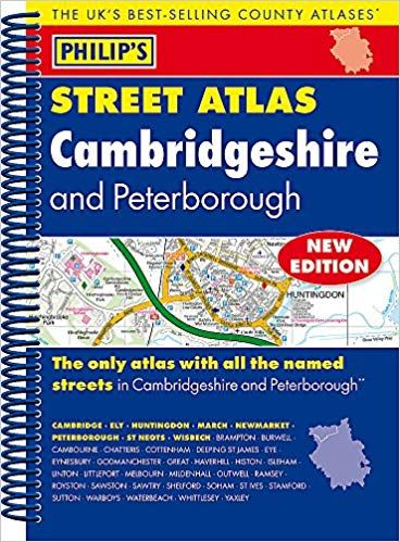 Philips Spiral Street Atlas - Cambridgeshire