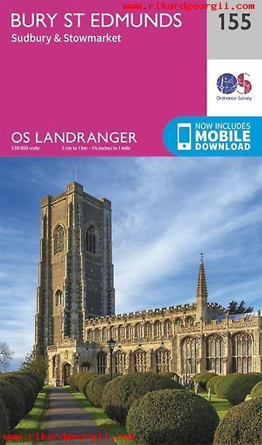 OS Landranger - 155 - Bury St Edmunds, Sudbury & Stowmarket