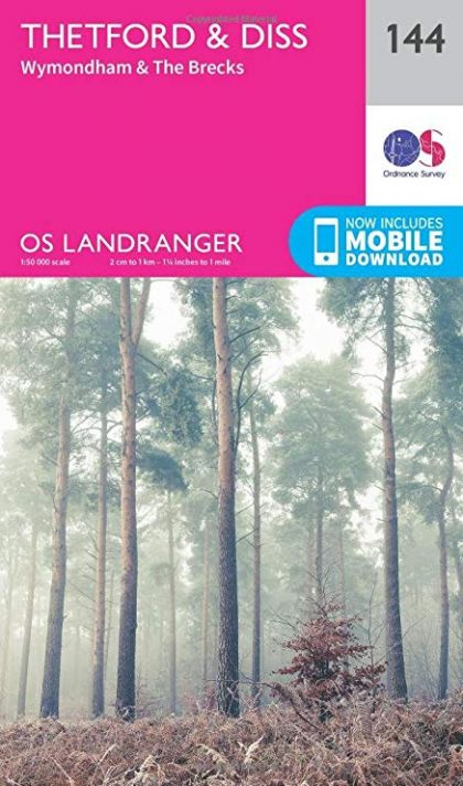 OS Landranger - 144 - Thetford & Diss, Breckland & Wymondham